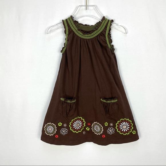 Carter's Girls A-line Brown Pocket Dress 3T